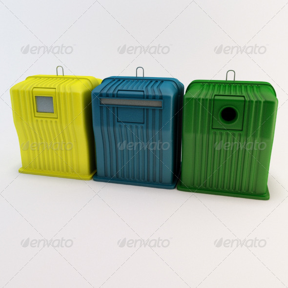 Recycle Bins - 3DOcean Item for Sale