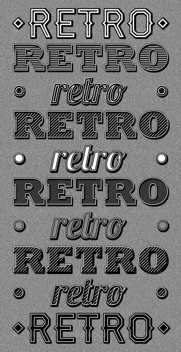 GraphicRiver Retro Type Styles 1394996