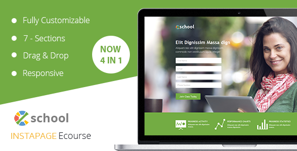 Download eSchool - Instapage Template nulled download