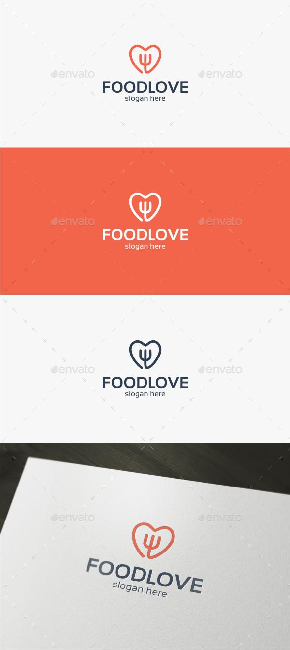 Food Love - Logo Template