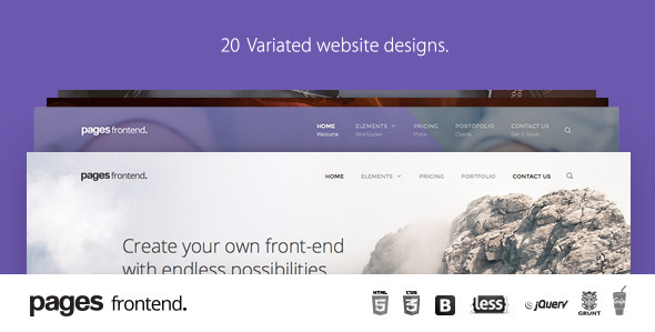 2. Pages - Multi-Purpose HTML5 Website Template
