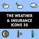The Weather & Insurance Icons 50