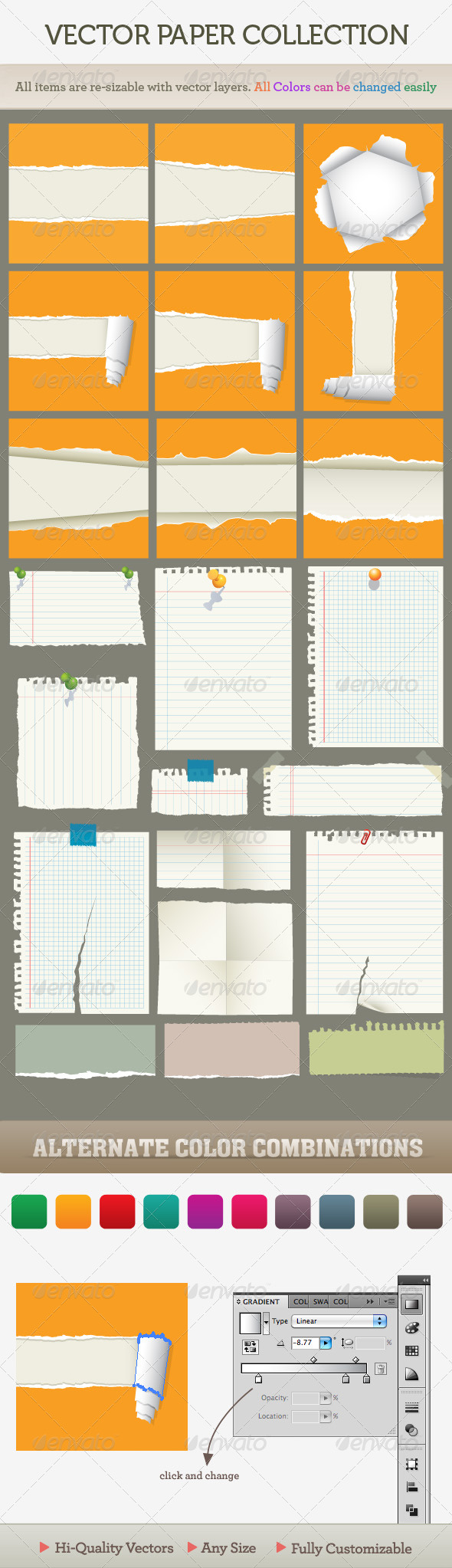 GraphicRiver Vector ripped paper 98894