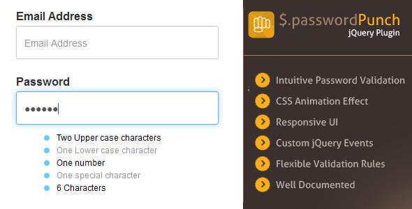 Smart Password Validator – jQuery Plugin (Forms) Download