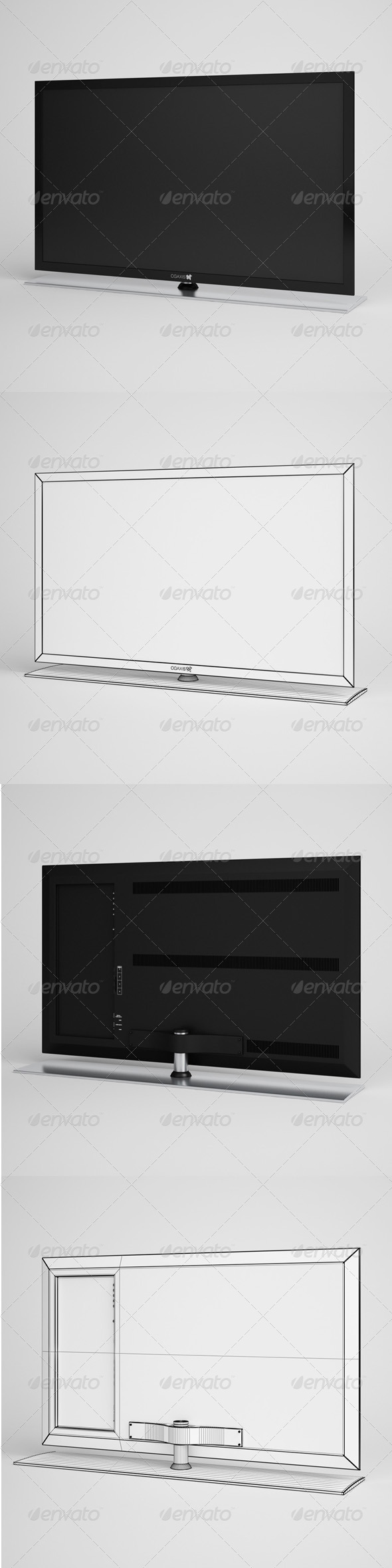 CGAxis Flatscreen TV Electronics 03 - 3DOcean Item for Sale