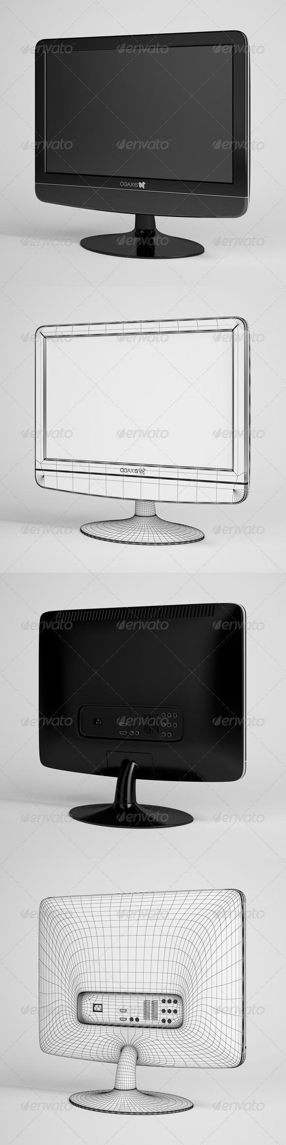 3DOcean CGAxis Flatscreen TV Electronics 05 165749