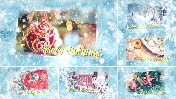 VideoHive Winter Holidays Slideshow 13960136