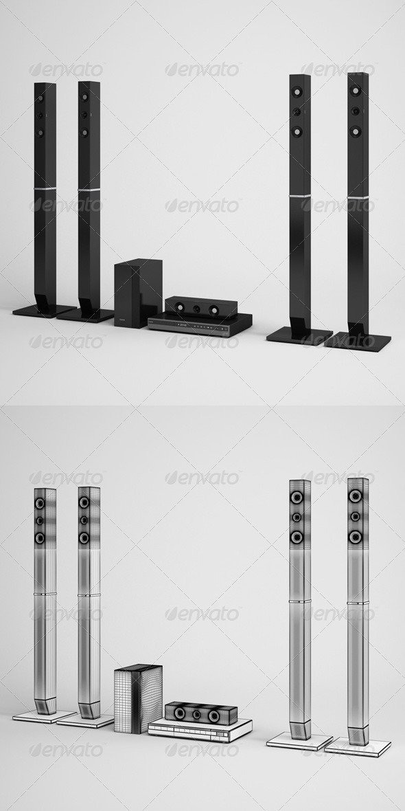 3DOcean CGAxis Home Theater Speakers Electronics 07 165753