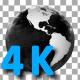 Broadcast Style Grunge World Globe