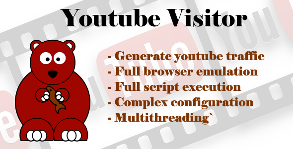 Bear Youtube Visitor - CodeCanyon Item for Sale