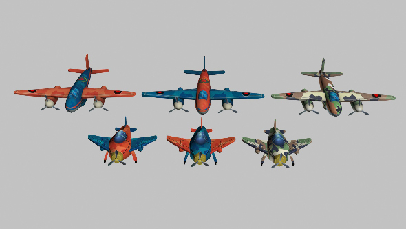 3DOcean plane low-poly 13966682