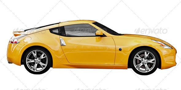 PhotoDune Car sport coupe on white background 1396036
