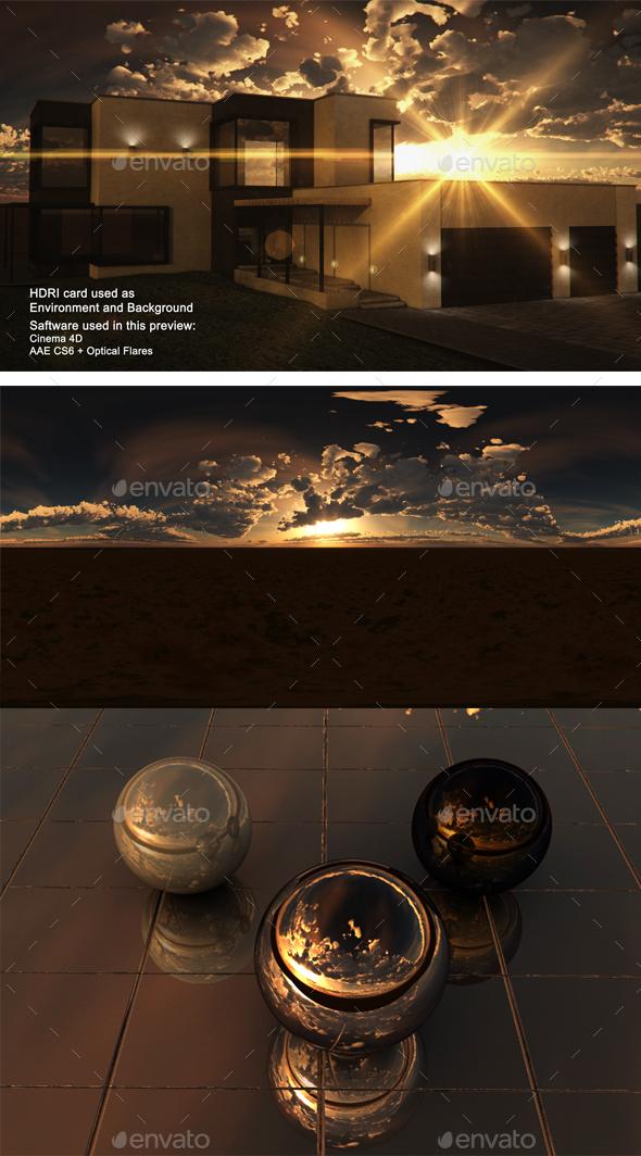 Sunset Desert 38 - 3DOcean Item for Sale