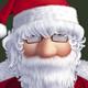 Santa giving gifts