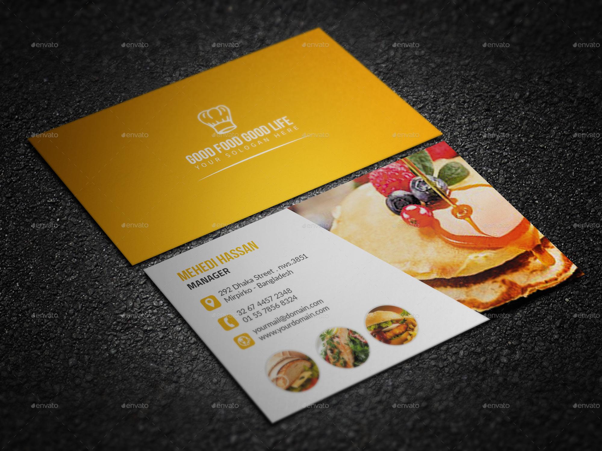 Bundle Restaurant Business Card by Mehedi Hassan