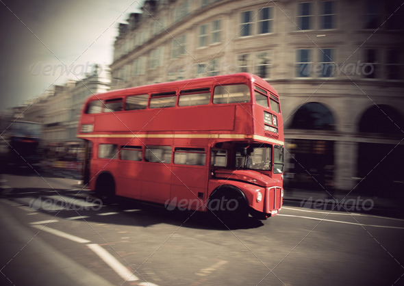Vintage double decker bus - Stock Photo - Images