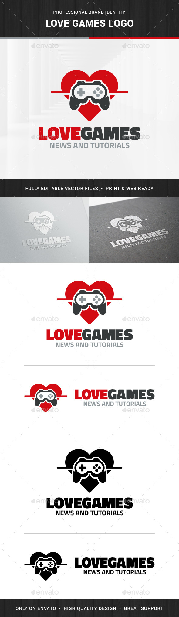 Love Games Logo Templates