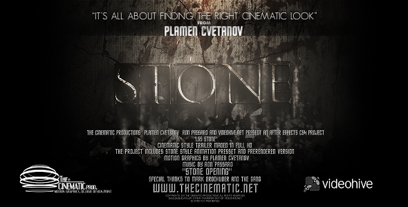After Effects Project - VideoHive LS Series Stone 165974