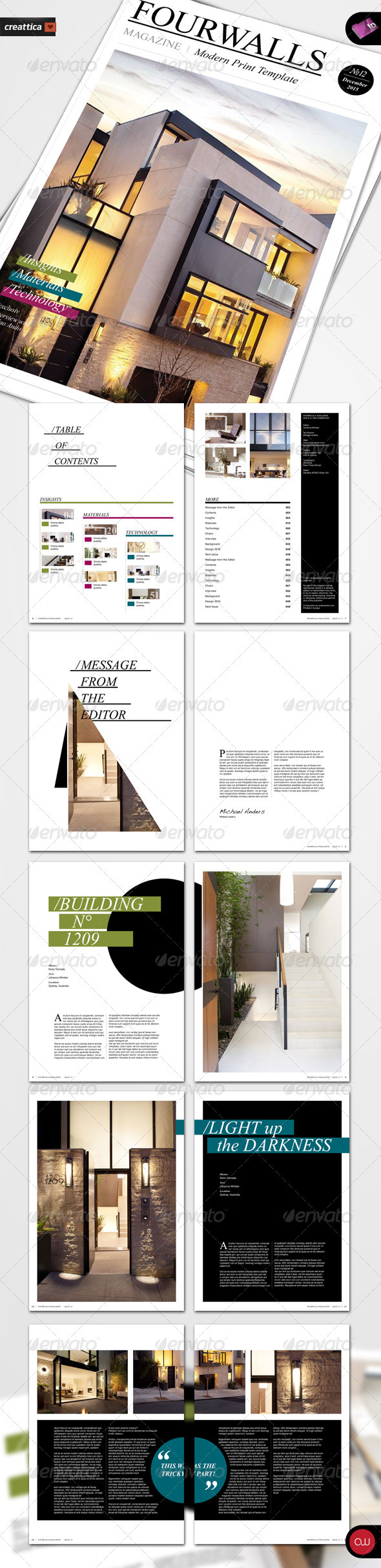 Modern Magazine Template - Vol.1 - Magazines Print Templates