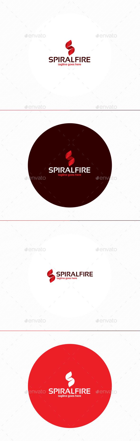 Spiral Fire Logo • Letter S