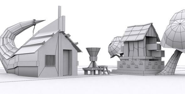 3DOcean Snake Low Poly House 13986763