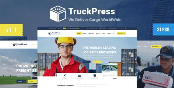 Truck Press | Logistics & Transport Business PSD Template