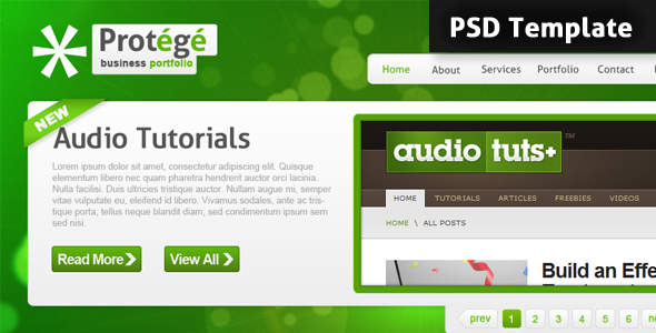 ThemeForest Protege PSD Template 55291