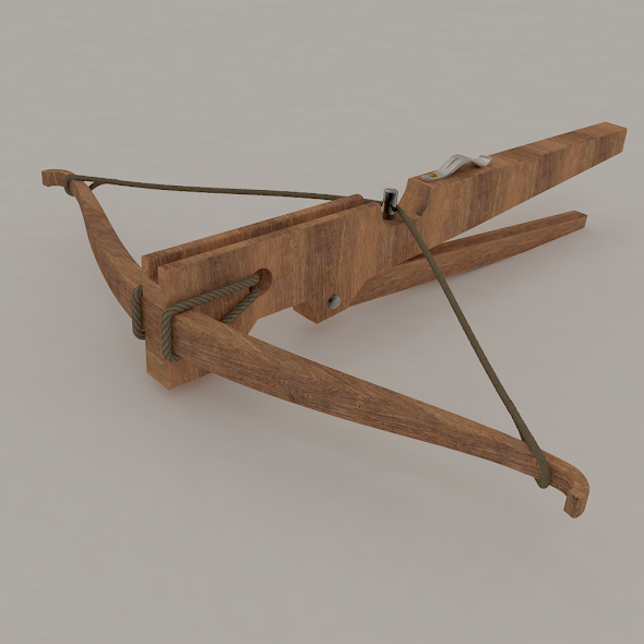 Medieval Crossbow - 3DOcean Item for Sale