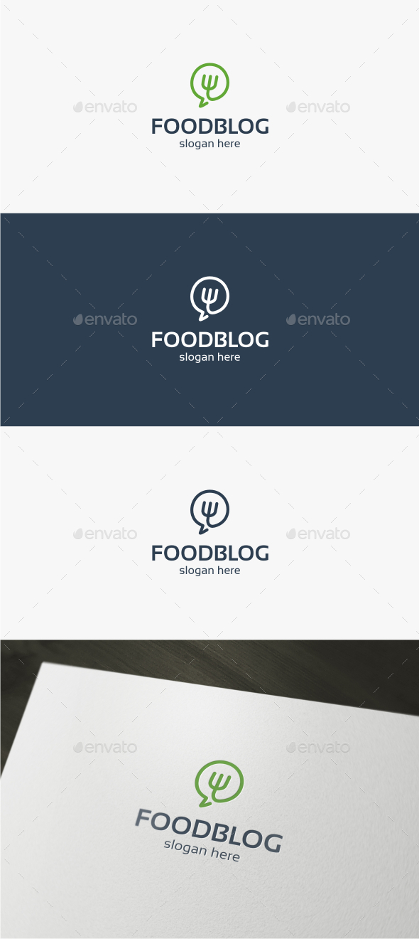 Food Chat - Logo Template
