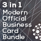 Modern Official Business Card Bundle