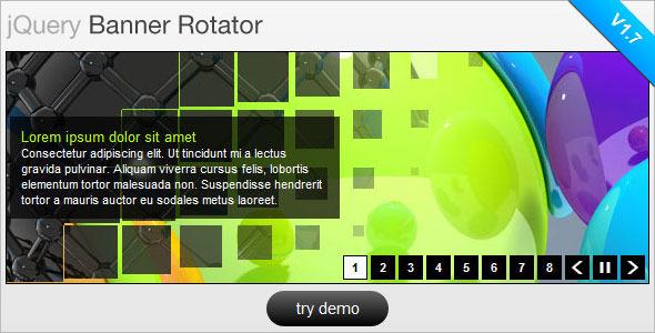 CodeCanyon jQuery Banner Rotator Slideshow 109046