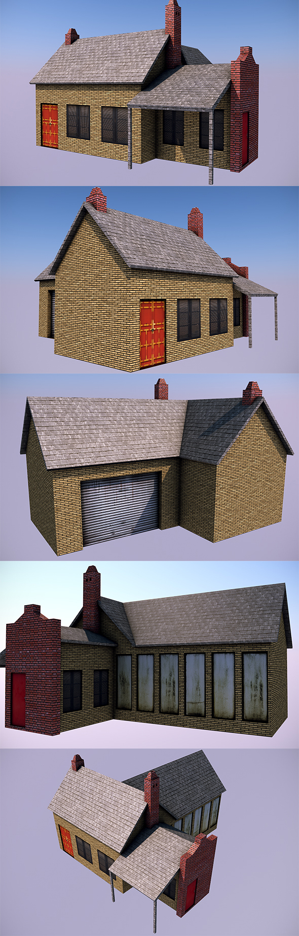 Low Poly House 2 - 3DOcean Item for Sale