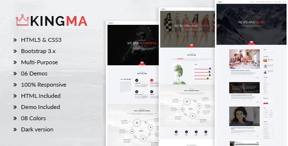 KingMa | Creative Business Onepage Drupal Theme
