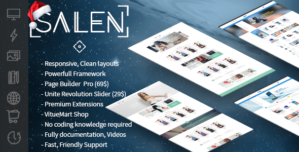 Salen | All In One Joomla Template