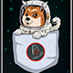 Space Dog Background
