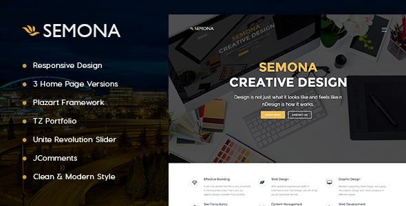 Agency Semona - Creative Joomla Template