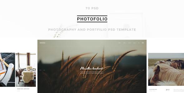 Photofolio - Photography & Portfolio PSD Template
