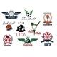 Sports Game Club And Team Heraldic Emblems