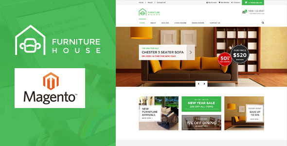 Furniture – Responsive Magento Theme (Shopping) Download