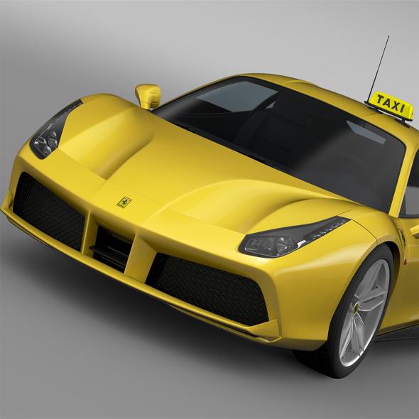 3DOcean Ferrari GTB 488 Taxi 2016 14009534