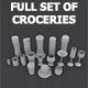 Set of Croceries