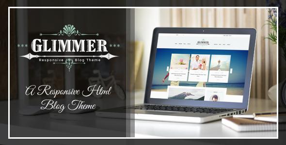Glimmer - A Responsive HTML Blog Theme