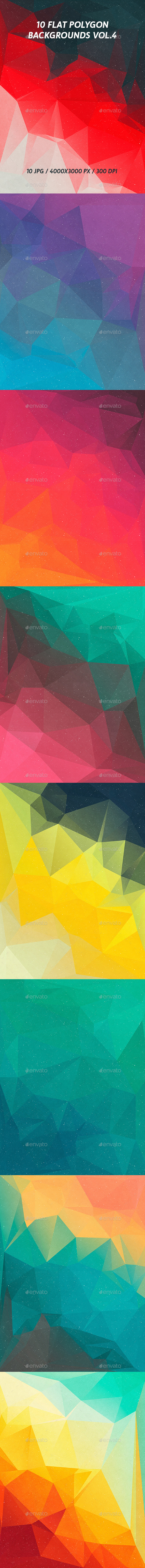 Flat Polygon Backgrounds Vol.4