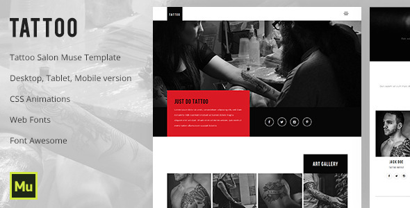 Tattoo - Tattoo Salon Muse Template
