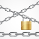 Chain Metal and Lock. Vector
