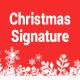 Christmas Email Signature PSD