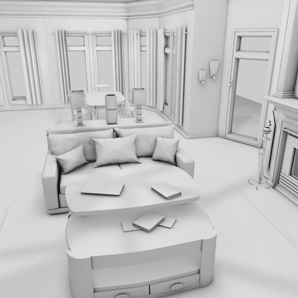3DOcean 3D interior house 1397326