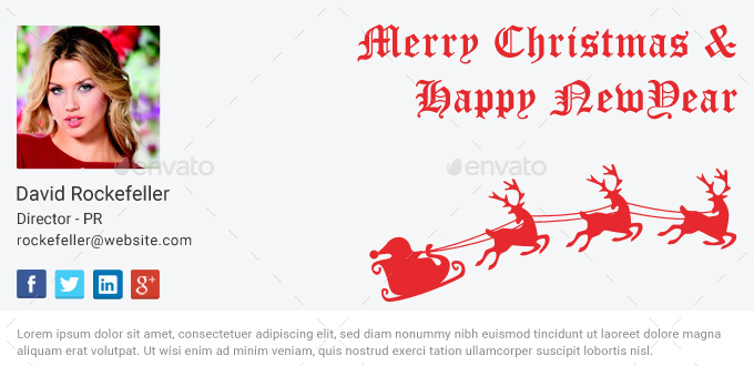 christmas email signature psd by dotgains