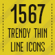 1567 Trendy Thin Line Icons