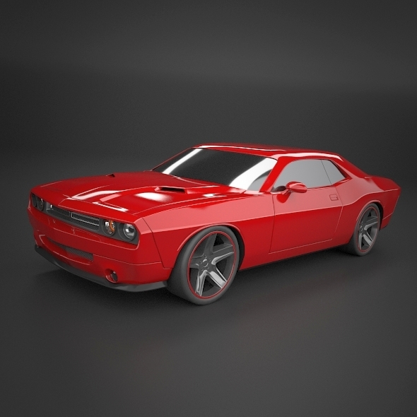 Dodge Challenger 2008 muscle car restyled - 3DOcean Item for Sale